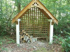 Nice little structure for the wood shed