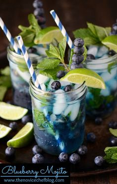 Blueberry Mojito recipe. Totally awesome!