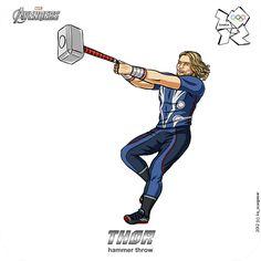 The Avengers do the olympics... © Scargeear