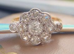 Art Deco Vintage Engagement Ring. Eleven by SweetHeirloomVintage