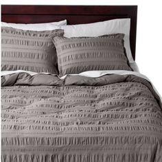modern master bedroom with threshold seersucker duvet cover set | 1000+ images about Seersucker Duvet Cover on Pinterest ...