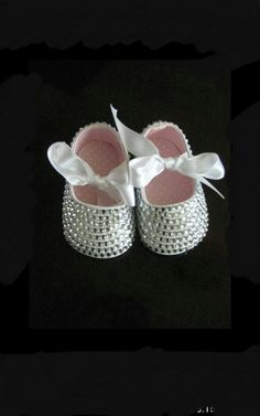 bedazzled shoes, baby bling, princess shoes on Etsy, $25.00