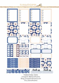 Hello,It'sfreebie Friday again! Here is a cute blue and pink set for you.Please note this printable is only for Personal use,but you ca