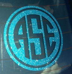 Custom Monogrammed Pearl Circle With Bow Car Decal Preppy Girl - Circle monogram car decal