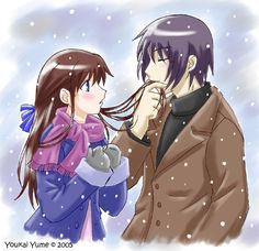 yuki and tohru~kiss in the snow