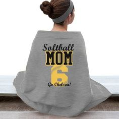 Root for your kid and their school sports softball or baseball team with this fun customizable design. Add your kid's name and jersey number to this cozy blanket to give it a personalized look! Softball Gear, Softball Crafts, Softball Shirts, Girls Softball, Fastpitch Softball, Baseball Mom, Softball Stuff, Baseball Stuff, Softball Tournaments