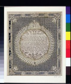The Lord's Prayer Paper Cutout,1786 England