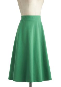 A O-Sway Skirt in Being Green | Mod Retro Vintage Skirts | ModCloth.com