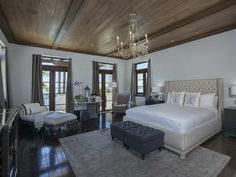 Master Bedroom: Waterfront Mansion Featured in Kourtney and Kim Take Miami