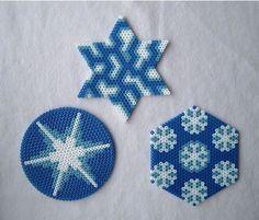 Copos de nieve de Hama Beads