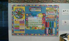 Preschool Back To School Ideas | Back To School Calendar Bulletin Board Idea