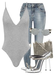 """Untitled #3756"" by xirix ❤ liked on Polyvore featuring River Island, Paco Rabanne, Linda Farrow and Giuseppe Zanotti"