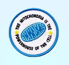 The Mitochondria Is The Powerhouse of The Cell Embroidered Iron-On Patch - Patch Game Gift Ideas Humor Science Patch Cute Patches, Pin And Patches, Iron On Patches, Sew On Patches, Funny Patches, Patches For Bags, Backpack With Patches, Denim Jacket Patches, Jacket Pins