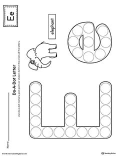 Letter E Do-A-Dot Worksheet Worksheet.The Letter E Do-A-Dot Worksheet is perfect for a hands-on activity to practice recognizing the letters of the alphabet and differentiating between uppercase and lowercase letters. Preschool Writing, Preschool Letters, Learning Letters, Preschool Lessons, Preschool Worksheets, Preschool Learning, Preschool Activities, Letter E Craft, Alphabet Crafts