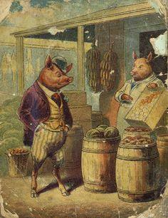 Mr Pig chooses a plum