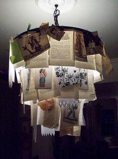Bookish chandelier.