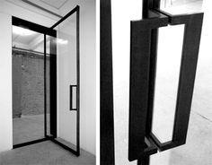 Glass Door metal Pull Handles | Entry Vestibule – Steel Frame Fabrication…
