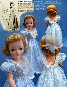 "20"" hard plastic Cissy fashion doll, as advertised in FAO Schwarz's Christmas catalog, United States, 1956, by Madame Alexander Doll Company."