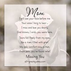 21 Remembering Mom Quotes Special Pinterest Mom Quotes