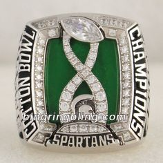 2015 Michigan State Spartans Cotton Bowl Champions Ring,Customize Your Own Championship Rings Now! Colleges In Michigan, Michigan State University, Michigan State Spartans, Stanley Cup Rings, World Series Rings, Super Bowl Rings, Cotton Bowl, Championship Rings, Football Fans