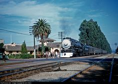 RailPictures.Net Photo: SP 4460 Southern Pacific Railroad Steam 4-8-4 at Burlingame, California by John West