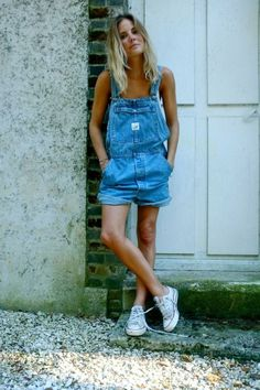 Chuck Taylors and perfectly shredded overalls #festivalfashion