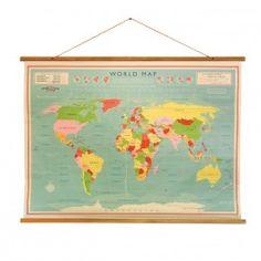 Weltkarte im Retro-Style