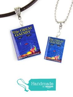 THE GREAT GATSBY F. Scott Fitzgerald Polymer Clay Mini Book Pendant Necklace by Book Beads ✯ OFFICIALLY LICENSED ✯ from Book Beads https://www.amazon.com/dp/B01MDLVRPC/ref=hnd_sw_r_pi_dp_HILayb0AAHBC5 #handmadeatamazon