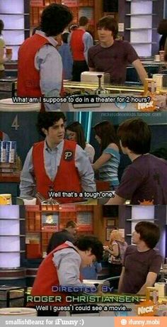 Drake and Josh, what to do at a theater for two hours