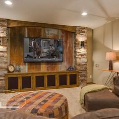 Rustic Basement Design Ideas, Pictures, Remodel, and Decor