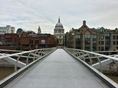 A beautiful new bridge in London.  A must see.