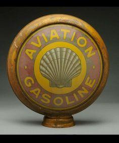 Original Shell Aviation Gas Globe