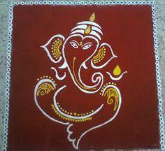 Ganpati Rangoli Designs for Competition