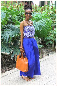 Street Style. #Africanfashion #AfricanClothing #Africanprints #Ethnicprints #Africangirls #africanTradition #BeautifulAfricanGirls #AfricanStyle #AfricanBeads #Gele #Kente #Ankara #Nigerianfashion #Ghanaianfashion #Kenyanfashion #Burundifashion #senegalesefashion #Swahilifashion DK