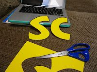 How to create big letters for your bulletin boards on your computer. Fabulous in Fourth!