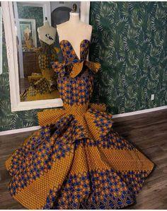 African Prom Dresses, African Wedding Dress, African Dresses For Women, African Attire, African Formal Dress, Ankara Gowns, African Fashion Ankara, African Inspired Fashion, Latest African Fashion Dresses