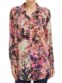 Sussan Winter Floral Longline Shirt