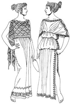 женский греческий хитон. картинки Ancient greece wear http://mir-kostuma.com/ancient-greece/item/28-odezhda-kartinki