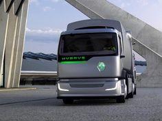 Renault trucks hybris . Hybrid engine garage truck. Michelin tires.