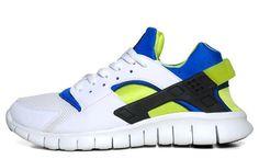 b9c473cb9a46 Nike Air Huarache Free 2012 White Soar Cyber OG Scream Green Huarache  Inspired Detailed Look