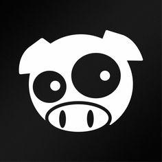 Pig Face Funny JDM Car Body Window Bumper Vinyl Decal Sticker #Oracal