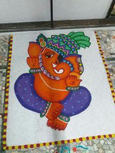 Easy Rangoli Designs Diwali, Rangoli Designs Latest, Rangoli Ideas, Colorful Rangoli Designs, Diwali Rangoli, Beautiful Rangoli Designs, Simple Rangoli, Dulhan Mehndi Designs, Mehendi