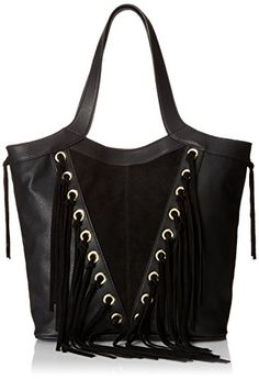 Women's Shoulder Bags - Steve Madden Bsothrn Tote Black One Size ** Want additional info? Click on the image.