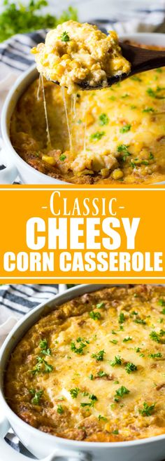 This EASY classic casserole dish is a must make for Thanksgiving or any holiday. Loaded with cheese, buttery crackers and corn this will quickly become a family favorite!