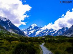 Mt Cook, Mount Cook, New Zealand - Approaching Mount Cook.