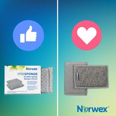 The sponge dilemma: SpiriSponge or EnviroSponge? Scrub and wipe gooey and sticky grime away with these two options that beat other sponges hands down! Pick scrubby on both sides, or scrubby on one side and soft on the other. Norwex Consultant, Norwex Products, Tips, Feels, Hands, Cleaning, Facebook, Home Cleaning, Counseling