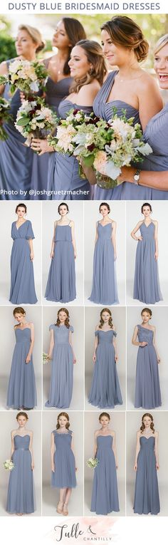 dusty blue bridesmaid dresses on a budget from Tulle & Chantilly