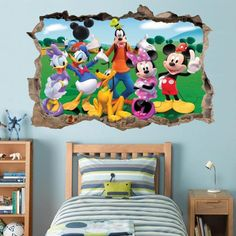 Mickey Clubhouse Smashed Wall Decal Graphic Wall Sticker Art Mural Disney H795