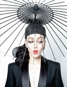 Parasol Skeleton Hat in Black by H E I D I L E E at the MAD Biennial