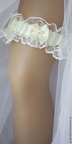 """Compre uma liga para o casamento da noiva """"Retro"""" - liga, ligas de meias, uma liga na perna, liga para o casamento"""
